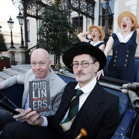 Author John Boyne (Boy In The Striped Pyjamas), James Joyce impersonator and The Shannon Colleens for Dubliners as part of the Dublin One City, One Book festival