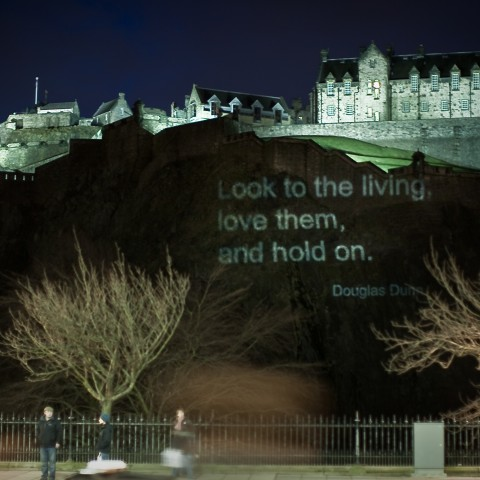 Poetry Projected on Edinburgh Castle - large