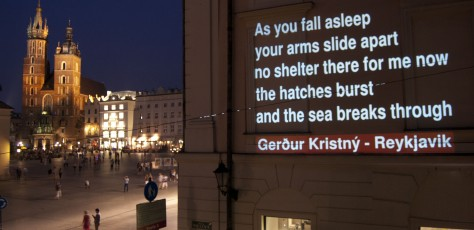 Reykjavik - Multipoetry. Poems on walls, pic. Poemat Foundation