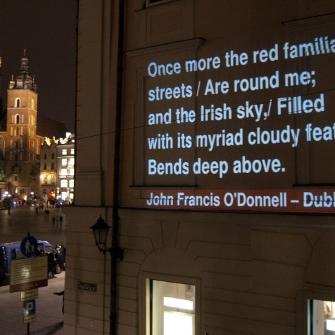 Dublin - Multipoetry. Poems on walls, pic. Poemat Foundation