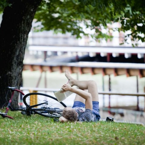 Reader by the river_Photo by Kerly Ilves